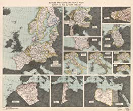 VintPrint Map Poster - Battles and campaigns : World War II European and African theate.