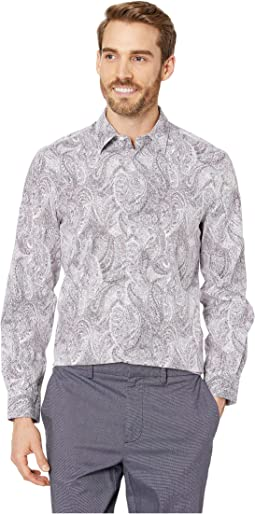 Regular Fit Stretch Paisley Print Shirt