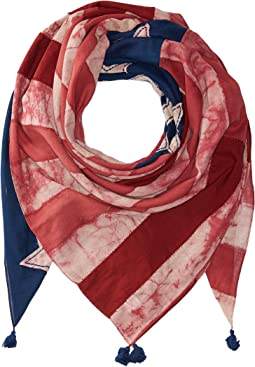Polo Ralph Lauren - Indigo Patchwork Flag Scarf