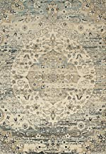 "Rugsville Annabel Medallian Ivory Persian Carpet 5' x 7'7"""