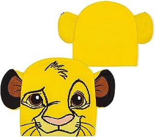 Disney Mickey Mouse Gorro Invierno para Niño, Divertidos Gorros con Cara y Orejas de Mickey Mouse o de Simba, Accesorios N...