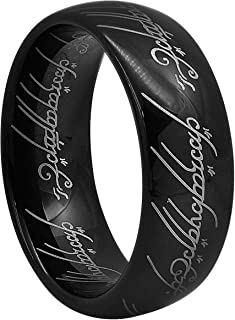 CROWNAL 5mm 6mm 7mm 8mm Magic Gold Black Tungsten Carbide Ring for Men Women Comfort Fit Size 4 to 13