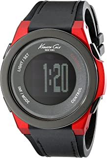 Kenneth Cole New York Unisex 10022807 KC Connect- Technology Digital Display Japanese Quartz Black Watch