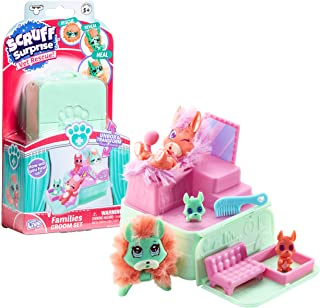 Scruff Surprise Vet Rescue - Groom Set with Dog Family - Mini Collectible Scruff-a-Luvs
