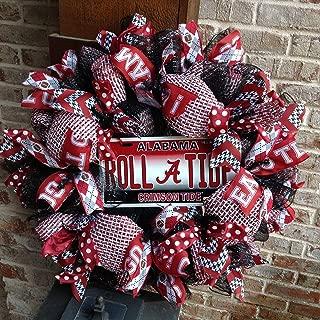 Flora Decor Alabama Crimson Tide Collegiate Wreath w Football -26