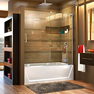 DreamLine Mirage-X 56-60 in. Width, Frameless Sliding Tub Door, 3/8