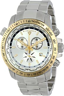 Swiss Legend Men's 10013-22S-GB World Timer Collection Chronograph Stainless Steel Watch