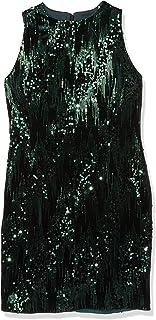 Tahari by Arthur S. Levine Women's Petite Velvet Sequin Slvless Dress