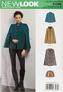 New Look Sewing Pattern UN6396A Autumn Collection Misses' Capes & Capelets Sewing Patterns, A (XS-S-M-L-XL)