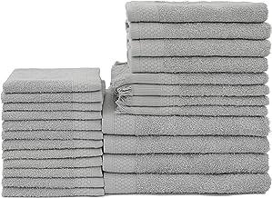 Baltic Linen Multi Count 100% Cotton Towels, 4 Bath Towels, 4 Hand Towels, 4 Fringed Fingertips, 12 Washcloths, Graphite G...