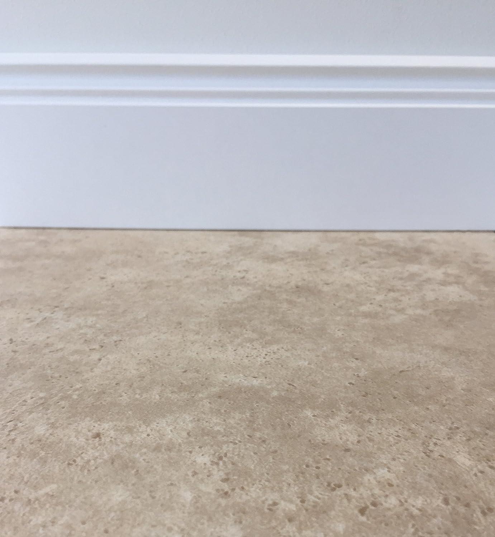 PVC Vinyl-Bodenbelag in grauem Vintagelook PVC-Belag verf/ügbar in der Breite 4 m /& in der L/änge 2,0 m CV-Boden wird in ben/ötigter Gr/ö/ße als Meterware geliefert rutschhemmend
