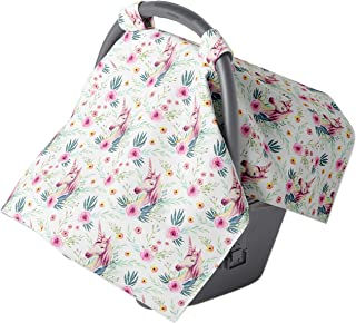 Carseat Canopy - Car seat Covers for Babies - Baby car seat Cover - Car seat Canopy for Newborn Girls Infants (Unicorn)