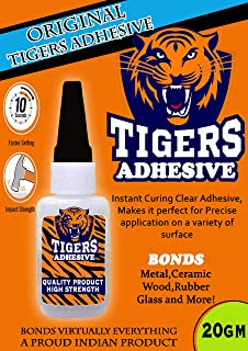 WOODCRAFT Tigers Wood, Ceramic, Rubber, Glass, Metal Instant Adhesive (20 gm, Brown)