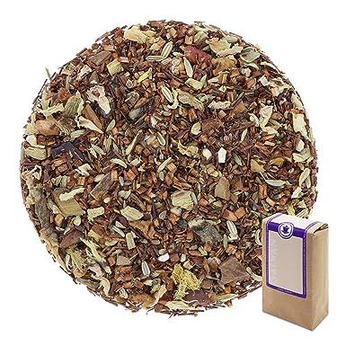 "Núm. 1424: Té rooibos orgánico ""Manzana horneada"" - hojas sueltas ecológico - 100 g - GAIWAN® GERMANY - rooibos, anís, cassia, regaliz, hinojo, almendras, manzana, pétalos de rosa"