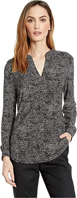 Printed ITY Split-Neck Tunic