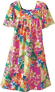 Tropical Print Dress - Misses, Womens
