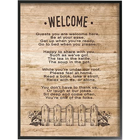 The Stupell Home Decor Collection Guests Are Welcome Here Oversized Framed Giclee Texturized Art Posters Prints