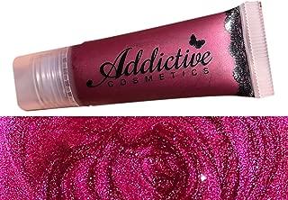 Berry Red Lip Gloss BITTEN by Addictive Cosmetics- Moisturizing and Waterproof Lip Junkie- Vegan Makeup Cruelty Free Cosmetics- Made in the USA
