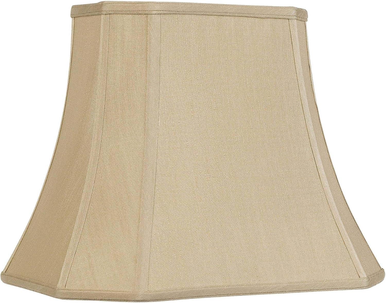 Taupe Medium Daily bargain sale Rectangle Cut Corner Lamp Deep Shade 7