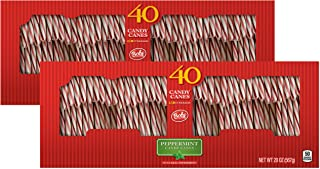 Brach's Bobs Red and White Candy Canes Peppermint, 40 Count Canes, Pack of 2
