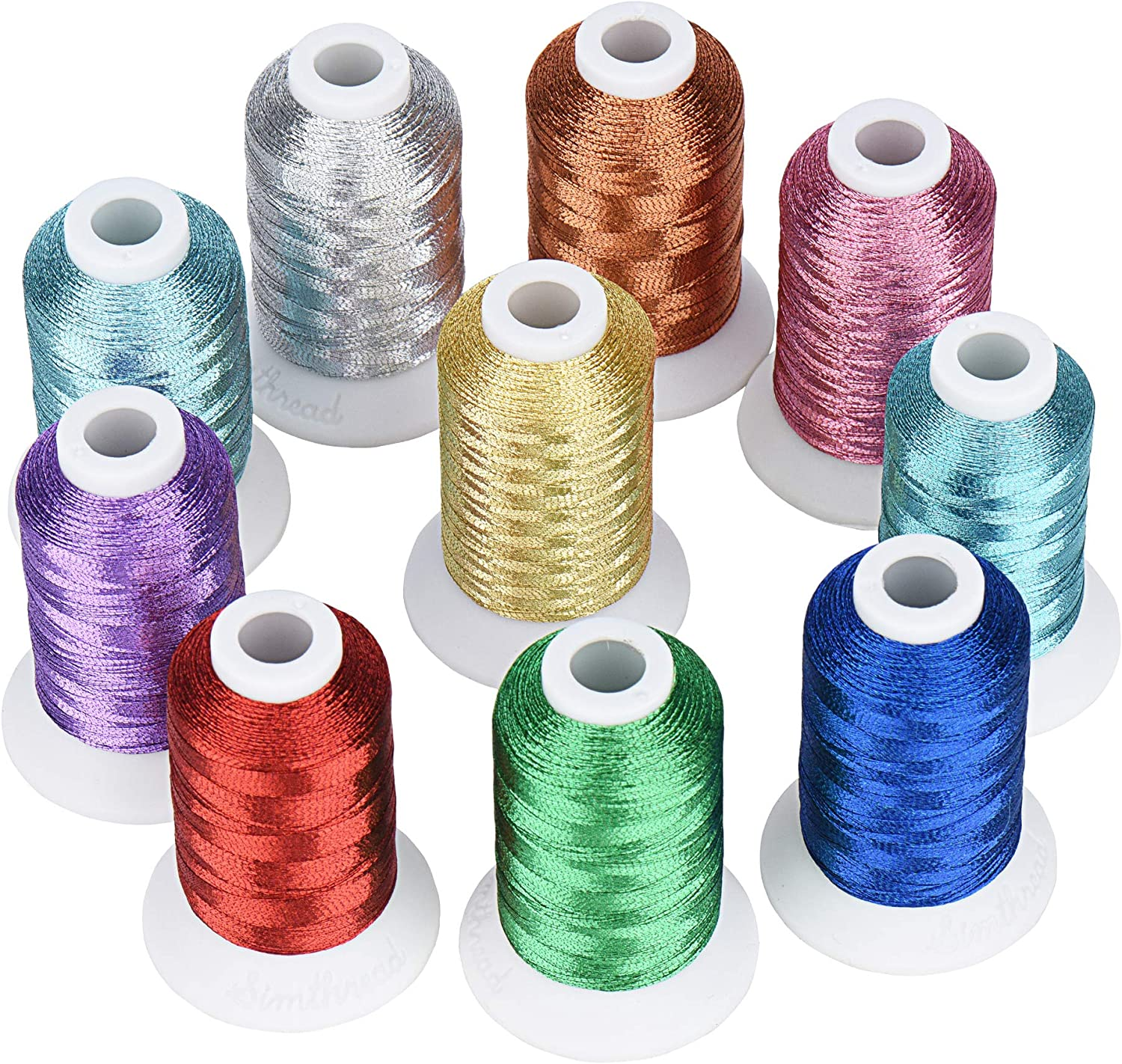 Simthread All items free shipping 10 Essential Colors Thread Machine Lowest price challenge Metallic Embroidery