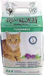 Better Way Eco Fresh Clumping Cat Litter (formerly Better Way Flushable Cat Litter), 12lb bag