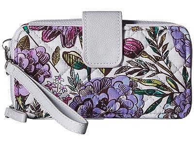 Vera Bradley Iconic RFID Smartphone Wristlet (Lavender Meadow) Wristlet Handbags