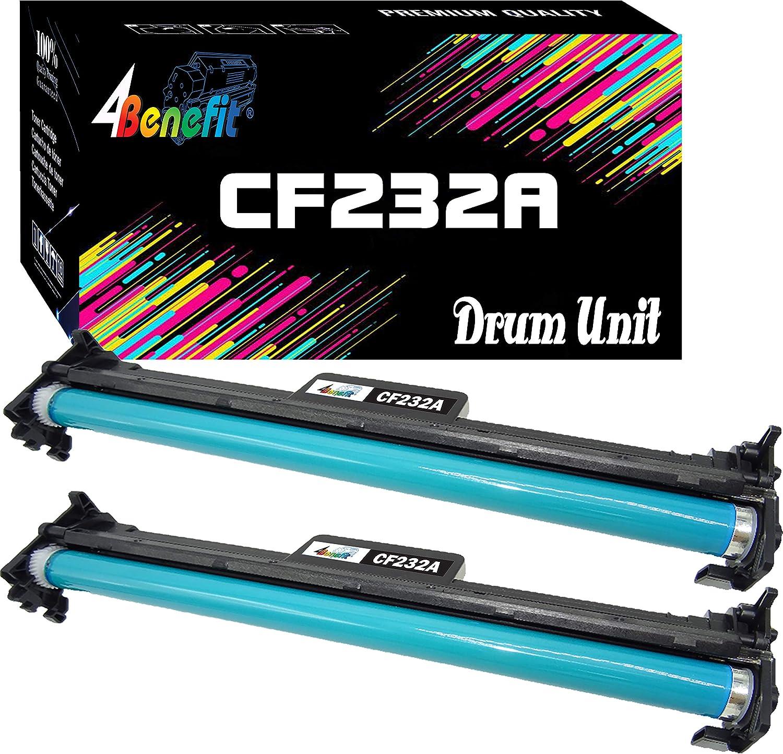 (2-Pack, Drum Unit) 4Benefit Compatible CF232A Drum Unit 32A 232A Used for Laserjet Pro M203dn M203dw M227d M227fdn M227fdw M227sdn Printer