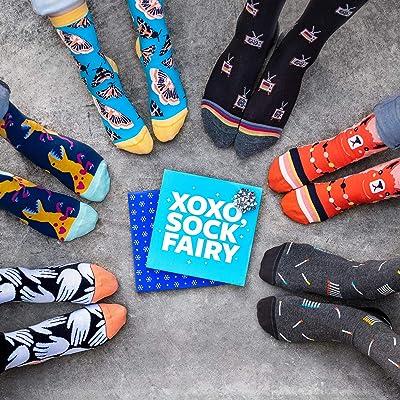 Foot Cardigan - Monthly Fun Sock Subscription As Seen on Shark Tank - Men's Crew Sock Club