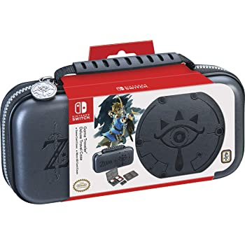 Officially Licensed Nintendo Switch Zelda: Sheikah Eye Carrying Case – Protective Deluxe Travel Case with Adjustable Viewing Stand – Game Case Included