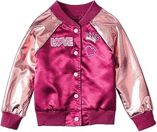 Garanimals Girls Pink Lightweight Metallic Spring Bomber Jacket