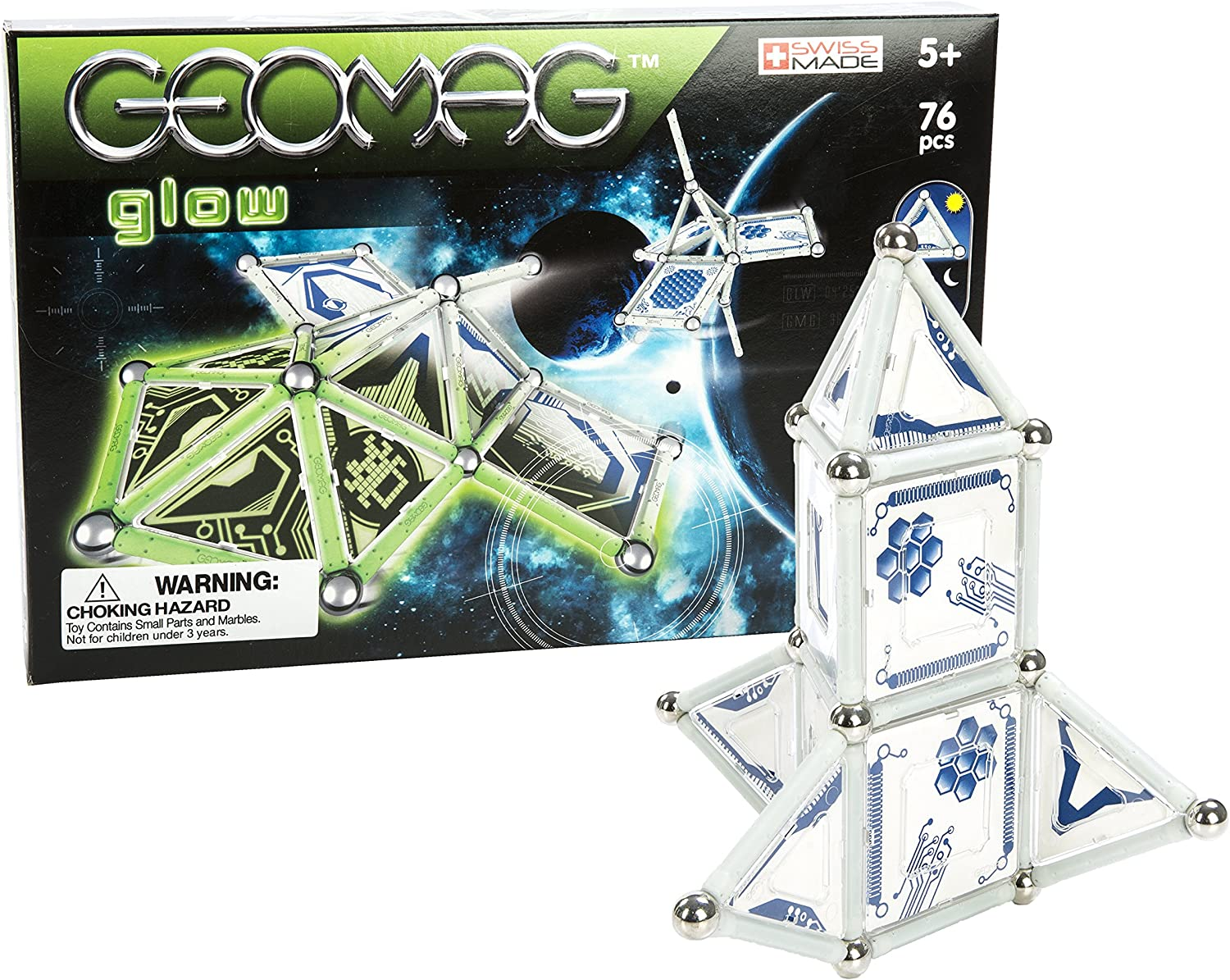 Geomag Panels Glow Space Building Kit (76Piece)