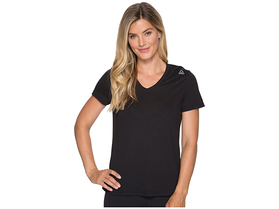 Reebok Supremium V-Neck Tee (Black) Women