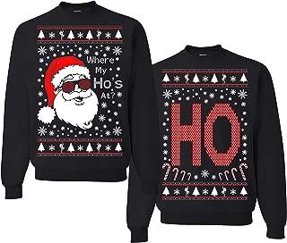 Where My Ho's at? Christmas Couples Sweaters, Ugly Christmas Sweatshirt, Funny Christmas Matching Sweatshirt