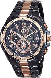 كاسيو ساعة رسمية رجال انالوج بعقارب ستانلس ستيل - EFR-539BKG-1AVUDF