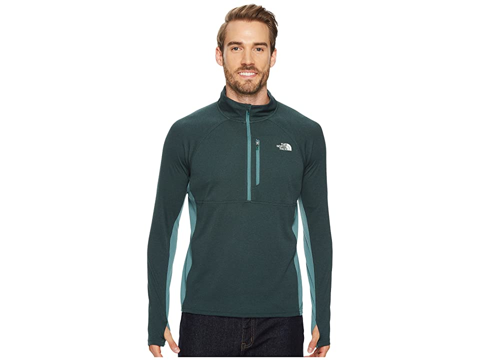 The North Face Impulse Active 1/4 Zip (Darkest Spruce Heather/Silver Pine Green) Men
