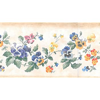 Bordure murale pr/écoll/ée Motif fruits Vert beige Dundee Deco BD6072 Frise de Papier Peint Frise Murale raisin violet sur vigne Motif r/étro 4,57 m x 25,4 cm