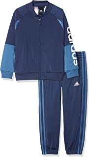 adidas Performance Boys Linear Long Sleeve Zipped Tracksuit Set - 11TO12Y
