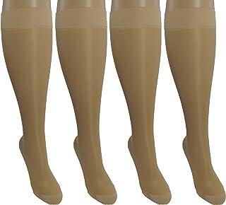 4 Pair SheerSmall/Medium Ladies Compression Socks, Moderate/Medium Graduated Compression 15-20 mmHg. Nurses, Work, Therap...