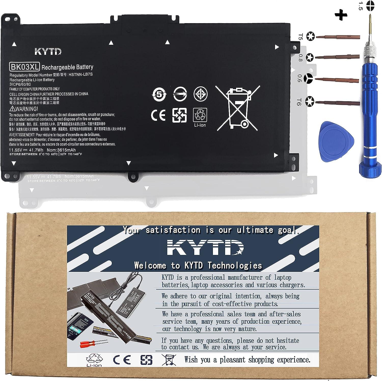 KYTD BK03XL Battery 11.55V Manufacturer OFFicial shop Max 60% OFF 41.7Wh Pavilion HP x3 with Compatible