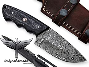 damascus steel fixed blade
