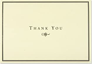 Black and Cream Thank You Cards