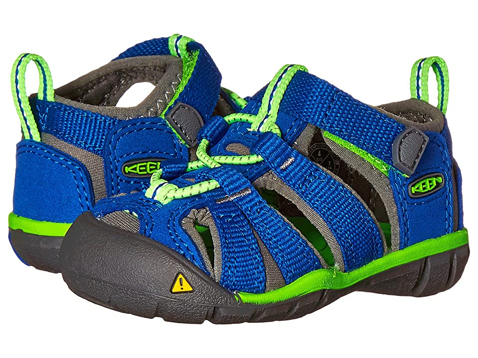 Keen Kids Seacamp II CNX (Toddler) (Blue/Jasmine Green) Kids Shoes