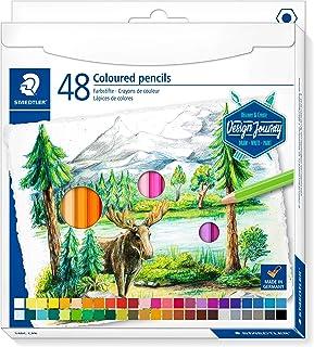 أقلام رصاص ملونة ستيدتلر، مجموعة فنية فاخرة، 48 لوناً متناسقاً، 146C C48