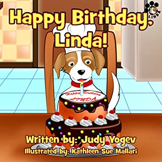 Children's book: Happy Birthday, Linda! - A story about the birthday party a family gave their little dog: (Bedtime picture book for Beginner readers,animal ... Early learning) (Linda's Adventures 4)