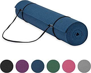 "Gaiam Essentials Premium Yoga Mat with Yoga Mat Carrier Sling (72""L x 24""W x.."