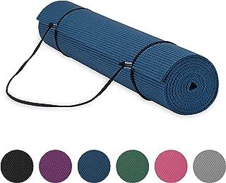 Gaiam Essentials Premium Yoga Mat with Yoga Mat Carrier Sling (72
