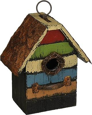 Carson Home Accents Vintage Stripes Birdhouse