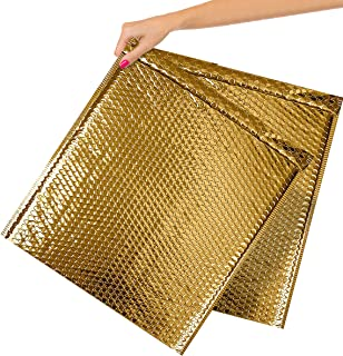 10 Pack Gold Bubble mailers 15 x 17. Metallic Padded envelopes 15 x 17 Cushion envelopes Peel and Seal. Large Padded maili...