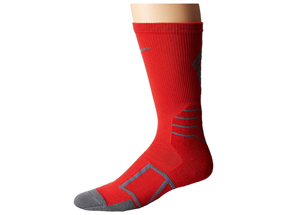 Nike Elite Baseball Crew Sock (University Red/Flint Grey/Flint Grey) Crew Cut Socks Shoes